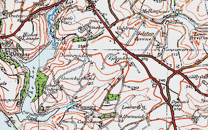Old map of Goonhusband in 1919