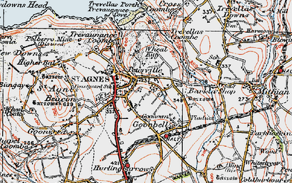 Old map of Goonown in 1919