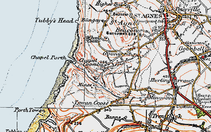 Old map of Goonvrea in 1919