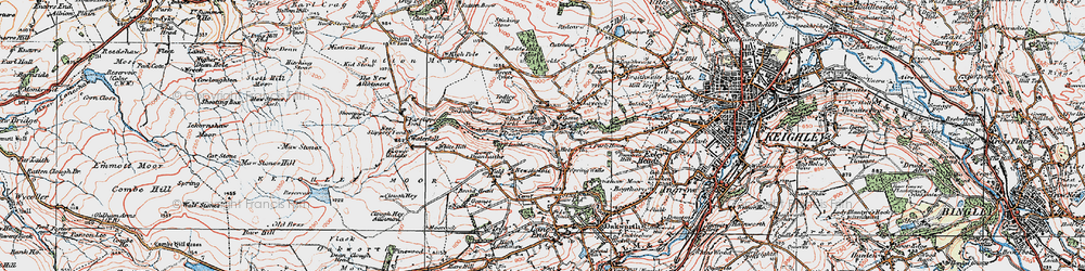 Old map of Todley Hill in 1925
