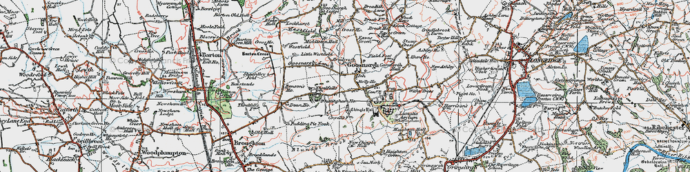 Old map of Westfield Brook in 1924