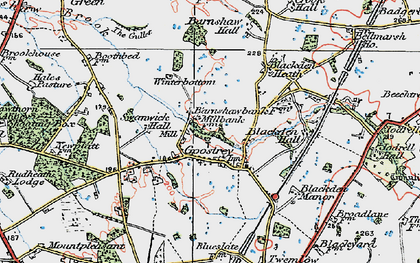 Old map of Goostrey in 1923