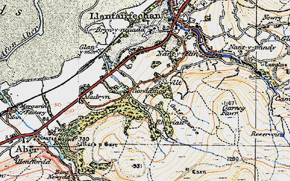 Old map of Afon Anafon in 1922