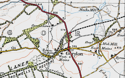 Old map of Lightfield in 1926