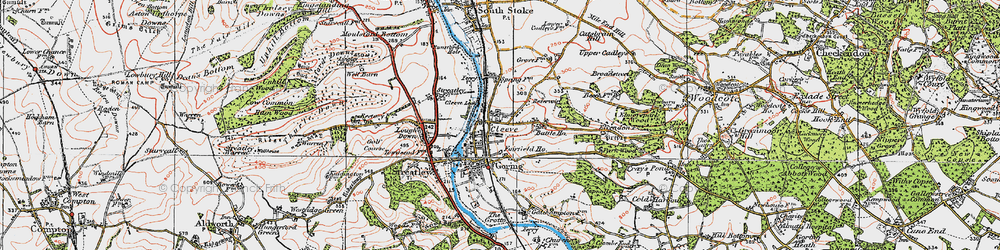 Old map of Goring in 1919