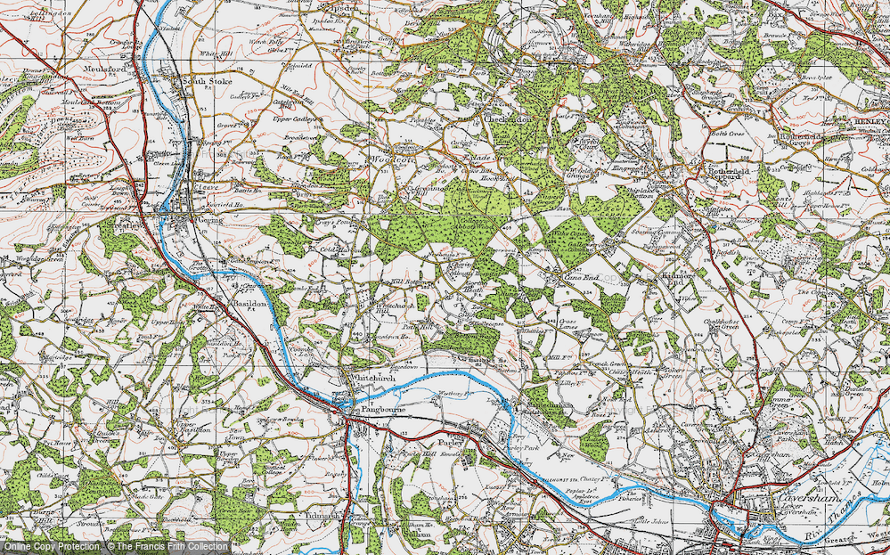 Old Map of Historic Map covering Almhouses, The in 1919