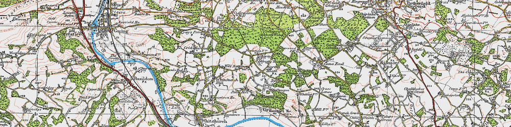 Old map of Almhouses, The in 1919
