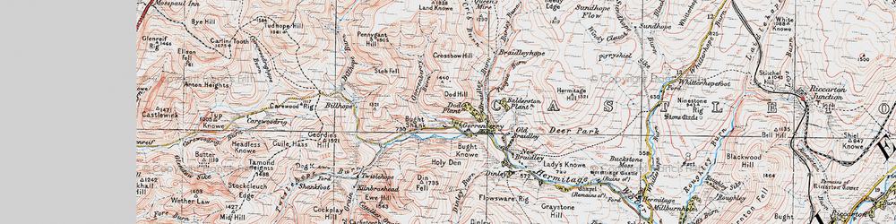Old map of Windy Edge in 1926