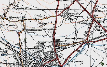 Old map of Gorse Hill in 1919