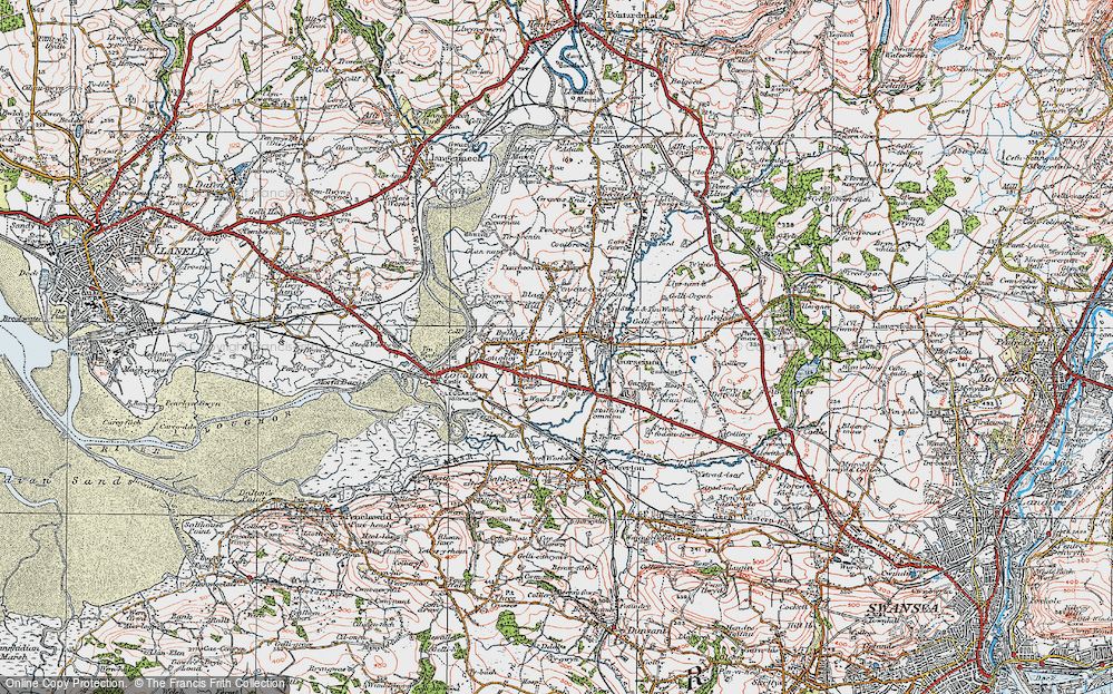 Old Map of Gorseinon, 1923 in 1923