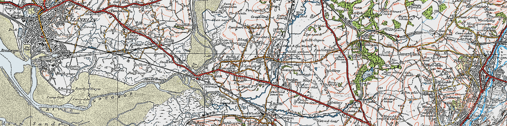 Old map of Gorseinon in 1923