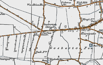 Old map of Woodbine Ho in 1922