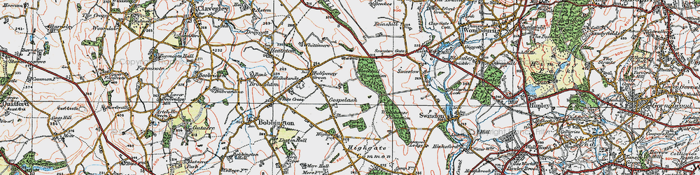 Old map of Whitehouse Plantation in 1921