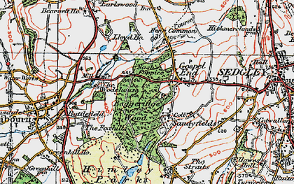 Old map of Wodehouse, The in 1921