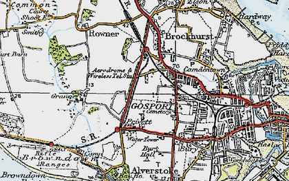 Old map of Gosport in 1919
