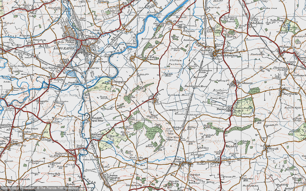 Map of Gotham, 1921 - Francis Frith Gotham Map on