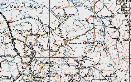 Old map of Gothers in 1919