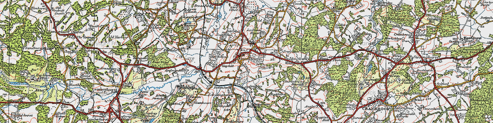 Old map of Lidwells Ho in 1921