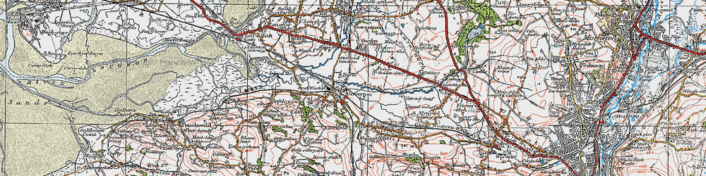 Old map of Gowerton in 1923