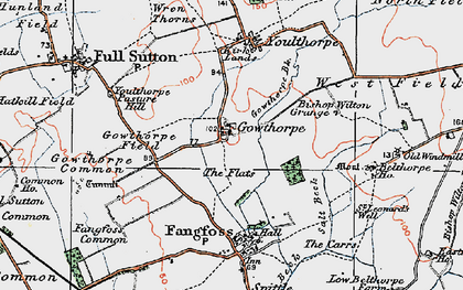 Old map of Youlthorpe Pasture Hill in 1924