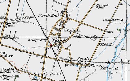 Old map of Goxhill in 1924