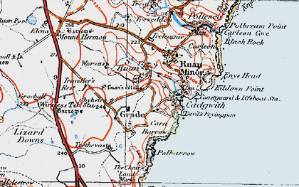 Old map of Grade in 1919