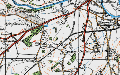 Old map of Grafton in 1920