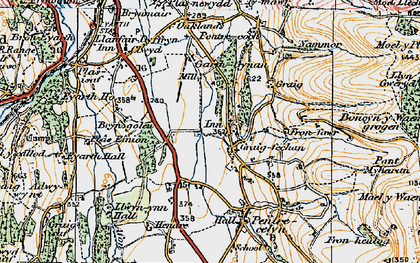 Old map of Pentre Côch in 1924