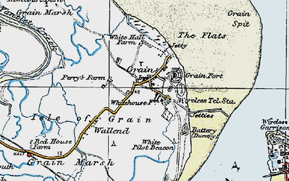 Old map of Lees Marshes in 1921