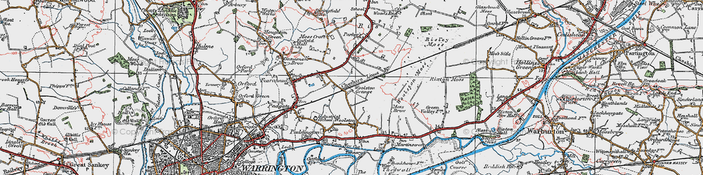 Old map of Grange in 1923