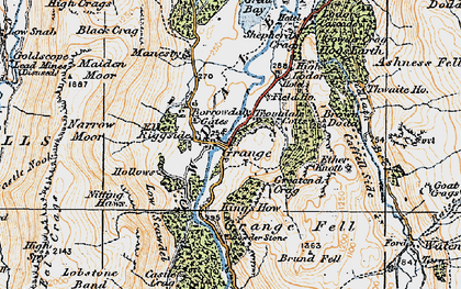 Old map of Ashness Br in 1925