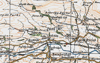 Old map of Whitfield Gill Force in 1925
