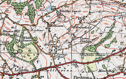 Old map of Whitley Park in 1925