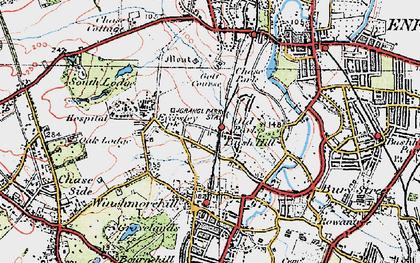 Old map of Grange Park in 1920