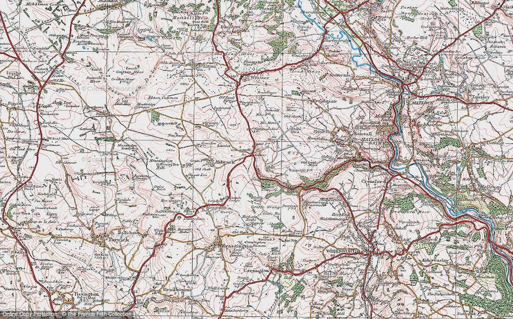 Old Map of Historic Map covering Leys in 1923