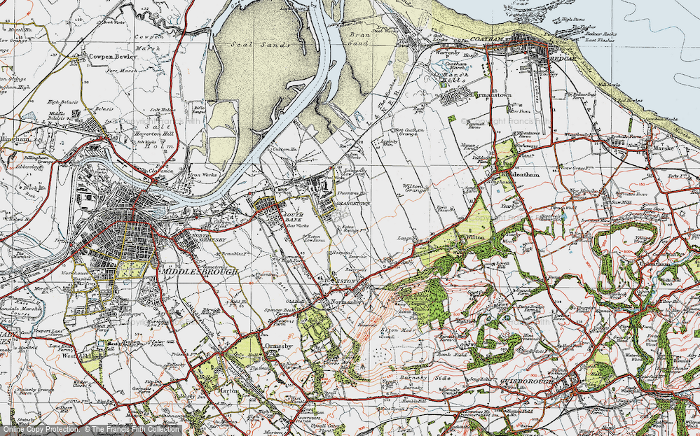 Old Map of Grangetown, 1925 in 1925