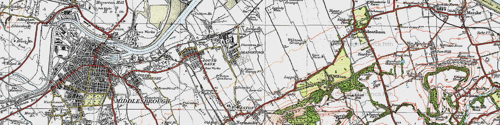Old map of Grangetown in 1925