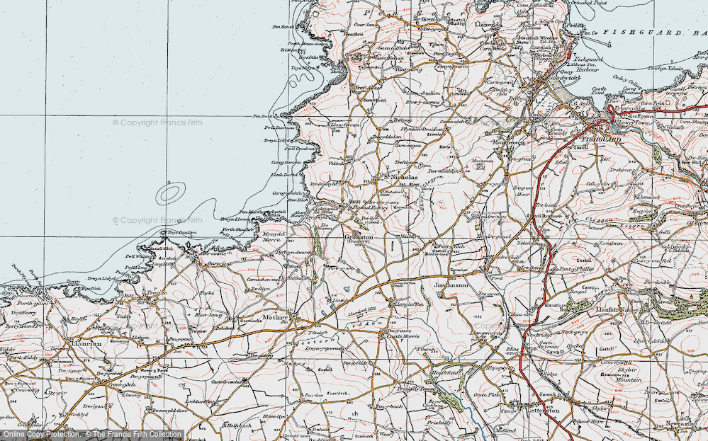 Old Map of Historic Map covering Aber Bach in 1923