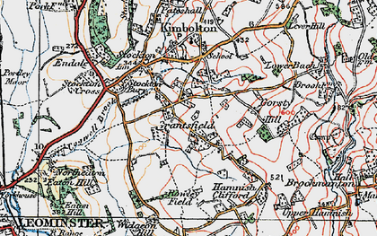 Old map of Widgeon Hill in 1920