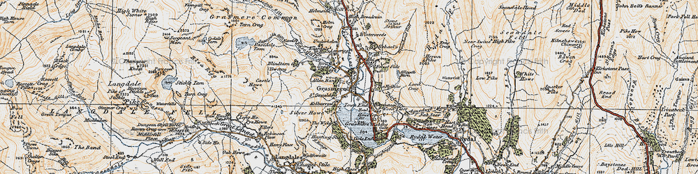 Old map of Winterseeds in 1925
