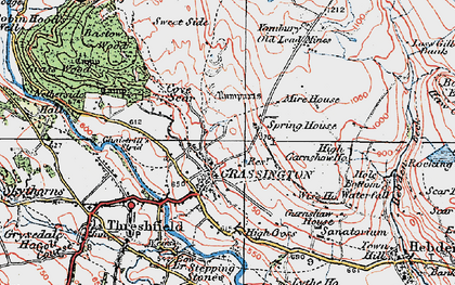 Old map of Grassington in 1925