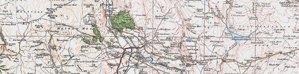 Old map of Yarnbury in 1925