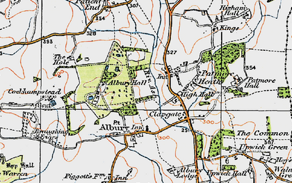 Old map of Albury Hall in 1919