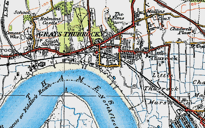 Old map of Grays in 1920