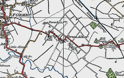Old map of Withins, The in 1923