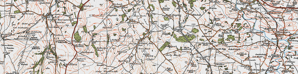 Old map of Whygill in 1925