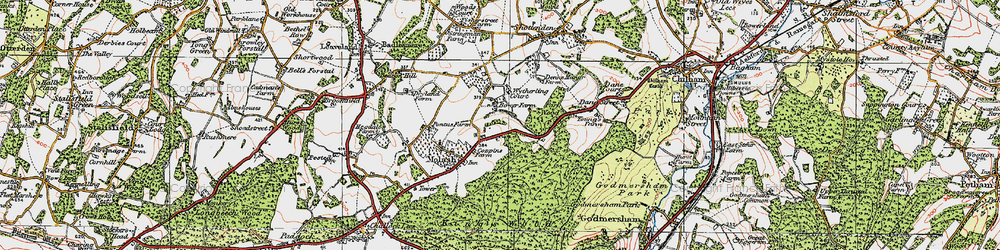 Old map of Wytherling Court in 1921