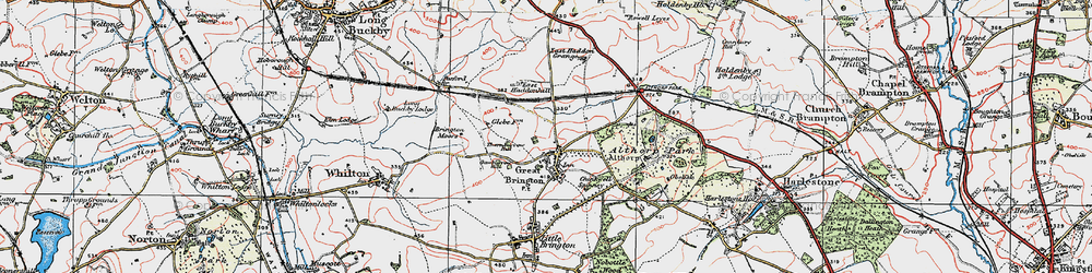 Old map of Althorp in 1919