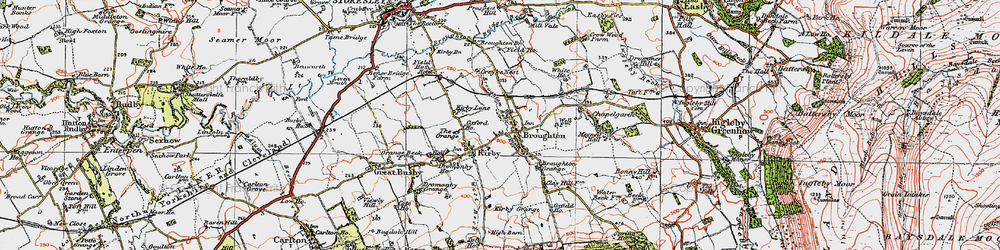 Old map of Toft Hill in 1925