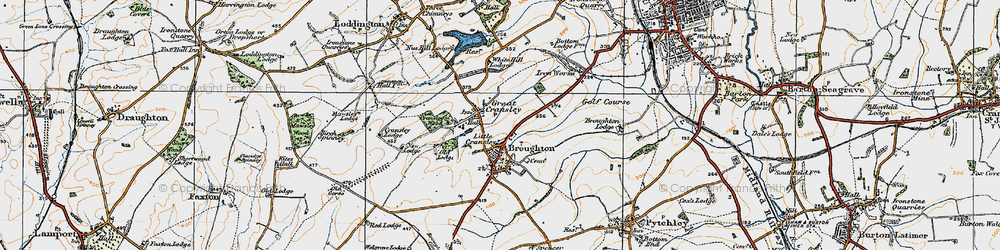 Old map of White Hill Lodge in 1920
